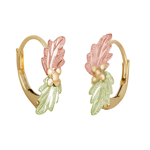 Two Leaf Leverback Earrings