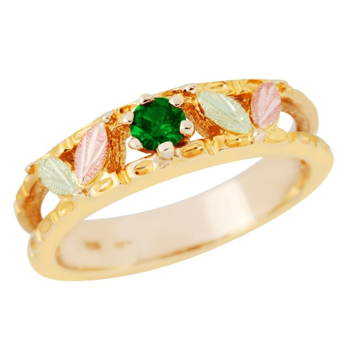 Black Hills Gold Genuine Emerald Ring