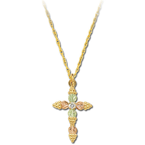 10k Gold Diamond Cross Necklace
