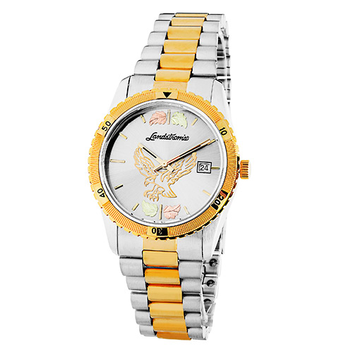 Black Hills Gold Eagle Mens Watch with Grey Dial