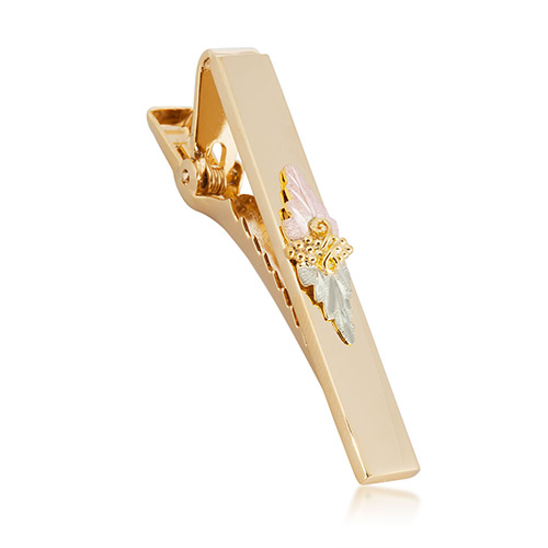Black Hills Gold Tie Bar with Gold Tone and 10K Trim