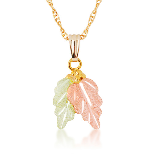 Two Leaf 10k Gold Necklace