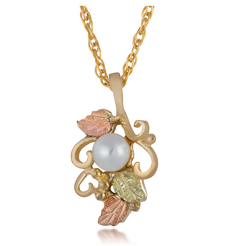 Pearl 10k Gold Necklace