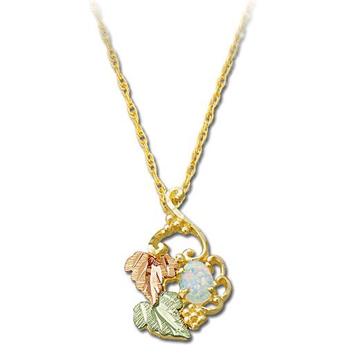 Opal 10k Gold Necklace