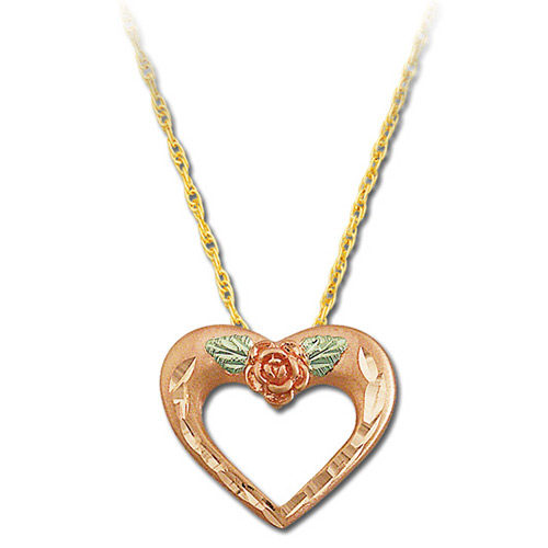 Rose Gold 10k Heart Pendant