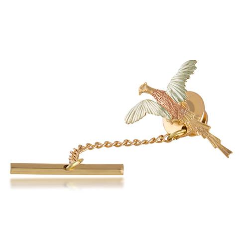 Pheasant Tie Tack Lapel Pin