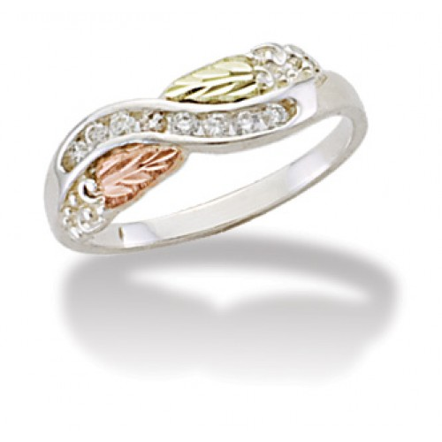 Landstroms Black Hills Gold Sterling Silver Diamon...