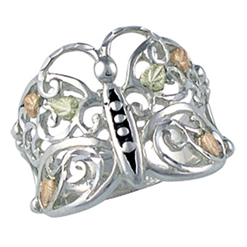 Butterfly Black Hills Silver Ring