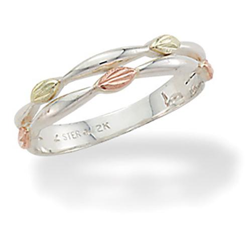 Sterling Silver Black Hills Gold Ring