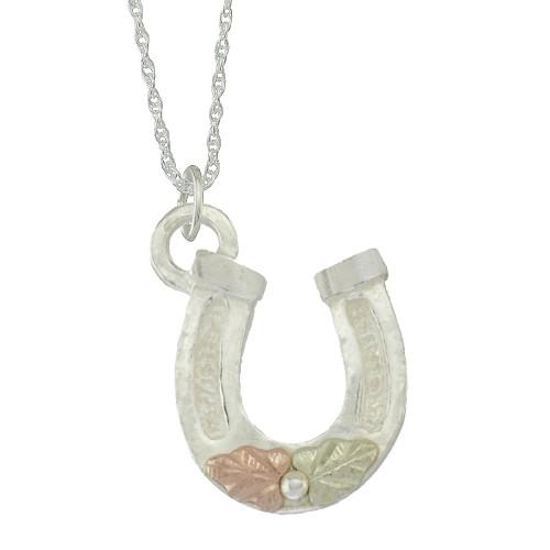 Horseshoe Black Hills Silver Pendant