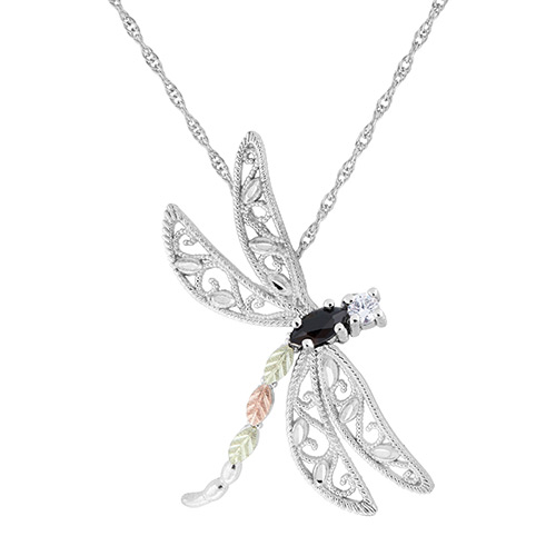 Dragonfly Black Hills Silver Pendant