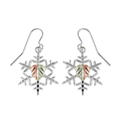 Snow Flake Black Hills Silver Earrings