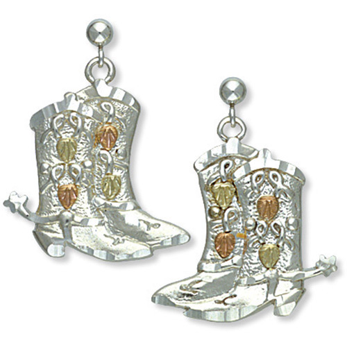 Black Hills Silver Shoe Earrings
