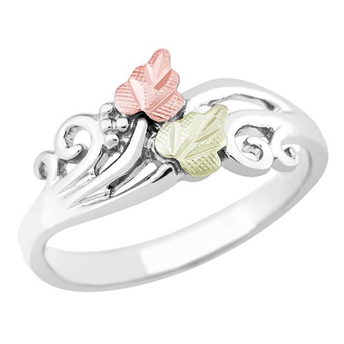 Silver Black Hills Leaf Ring