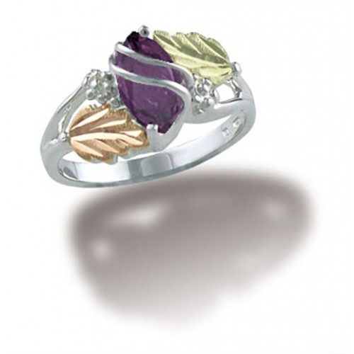 February Birthstone Ring in Sterling Silver