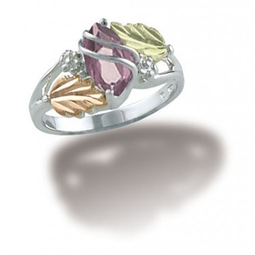 June Birthstone Ring in Sterling Silver