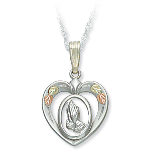Praying Hands in Heart Pendant