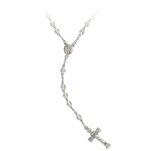 Black Hills Gold on Silver Rosary