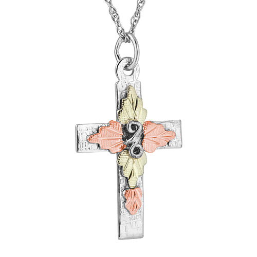 Silver Black Hills Cross Pendant