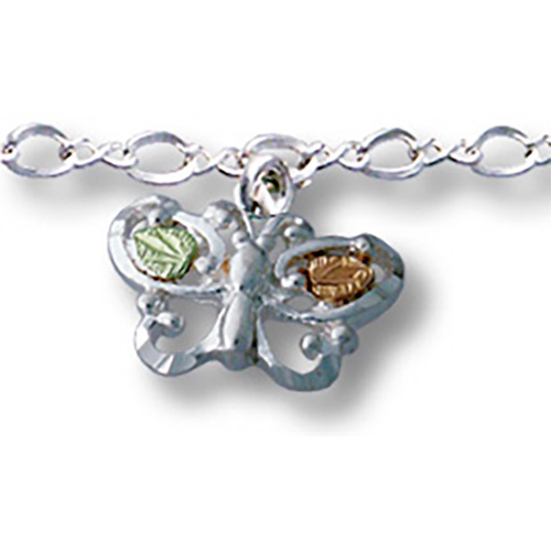 Black Hills Silver Butterfly Anklet