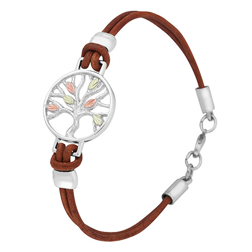Landstroms Tree of Life Brown Leather Bracelets