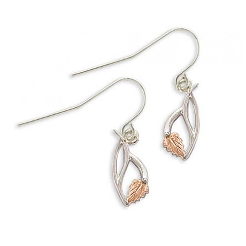 Black Hills Silver  Shepherd Hook Earrings with 12...