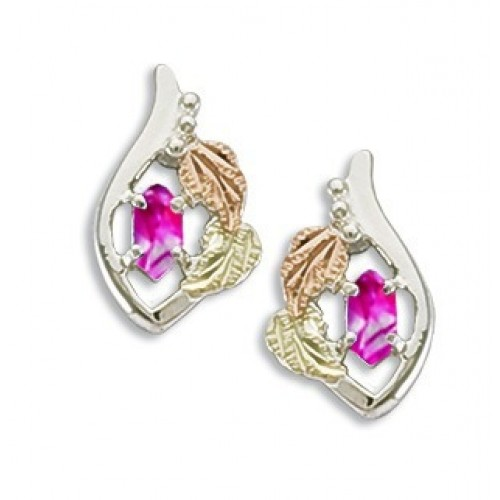 Silver October Birthstone Earrings
