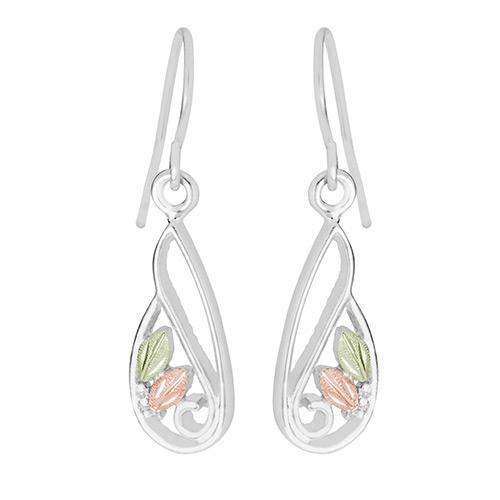 Siver Freeform Dangle Earrings