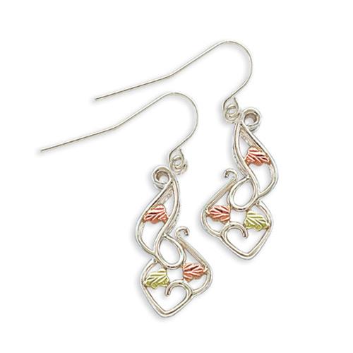 Sterling Silver Earrings with Shepherd Hook Back