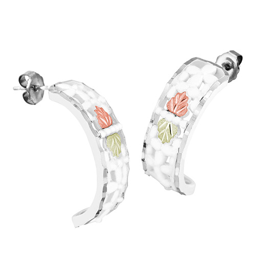 Landstroms Sterling Silver Semi Hoop Earrings with...