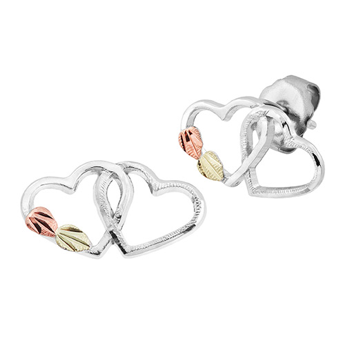 Interlocking Double Heart Earrings