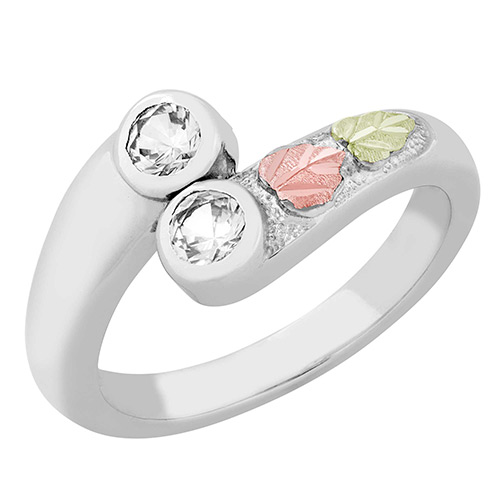 Sterling Silver Cubic Zirconia ring from Landstrom...