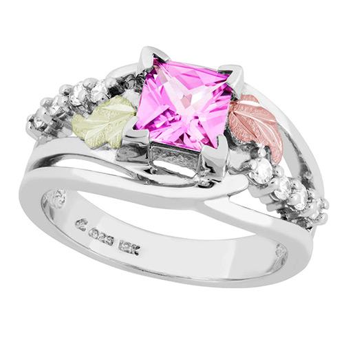 Landstroms Black Hills Gold Created Pink Sapphire ...