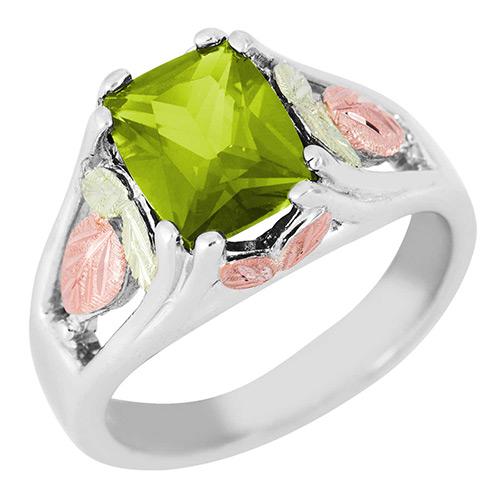 Soude Peridot Black Hills Silver Ring