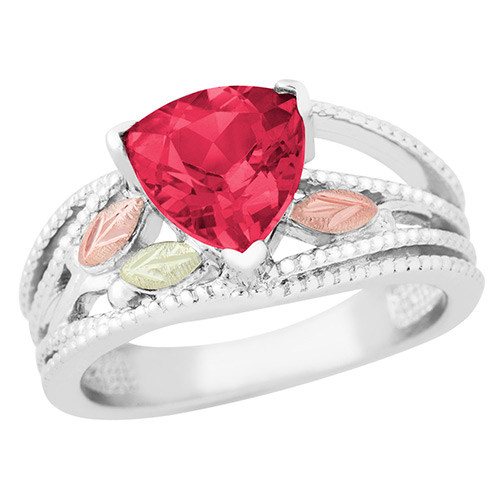 Landstroms Black Hills Gold 8 MM Created Ruby Ring