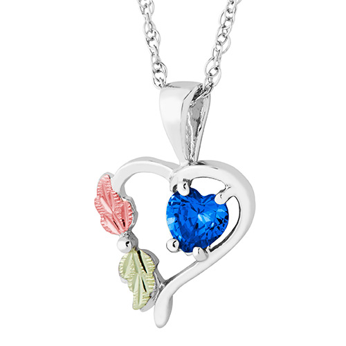 Heart Pendant with September Birthstone
