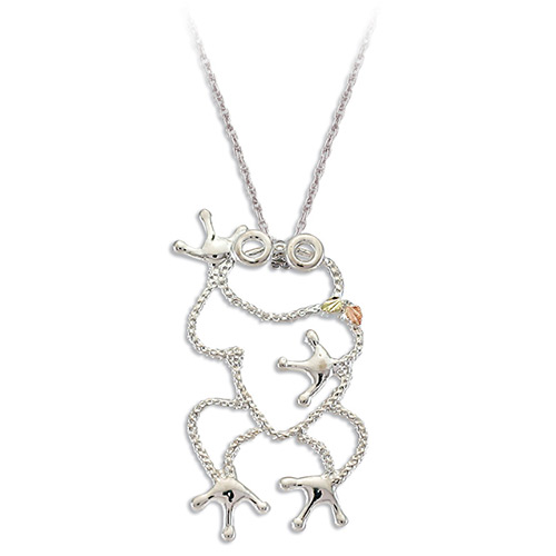 Black Hills Silver Frog Pendant Necklace
