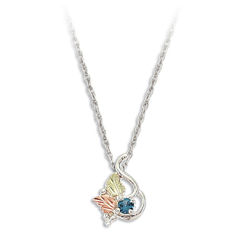 Blue Zircon Silver Necklace