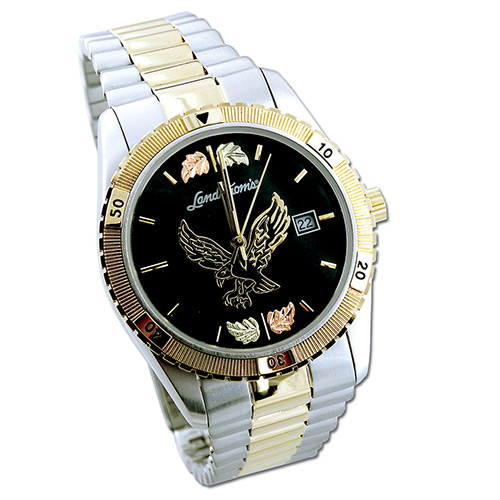 Black Hills Gold Eagle Mens Watch