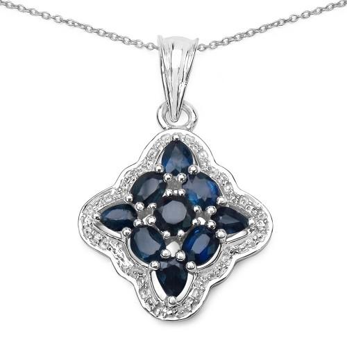 Blue Sapphire 925 Sterling Silver Pendant