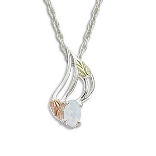 Black Hills Silver Opal Necklace