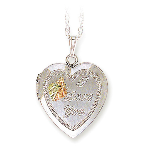 Black Hills Silver 'I Love You' Heart Locket