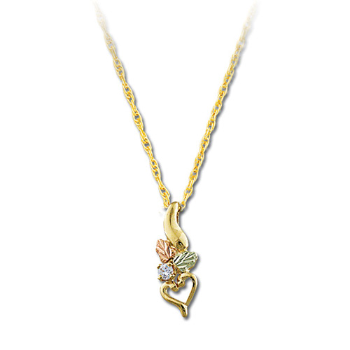 Landstroms Black Hills Gold Diamond Pendant