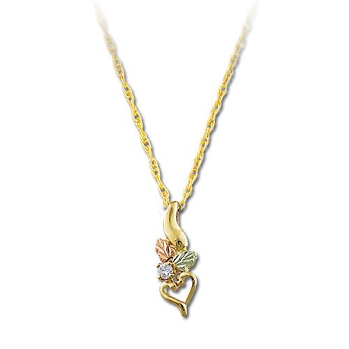 Landstroms Black Hills Gold Diamond Pendant