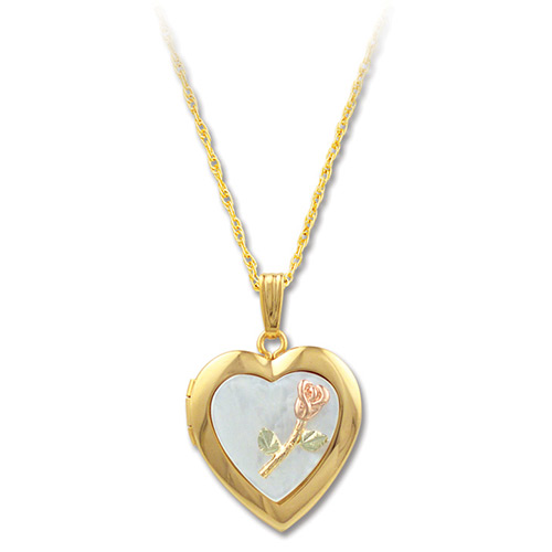 Mother of Pearl Black Hils Gold Locket