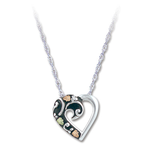 Black Hills Gold Heart Necklace
