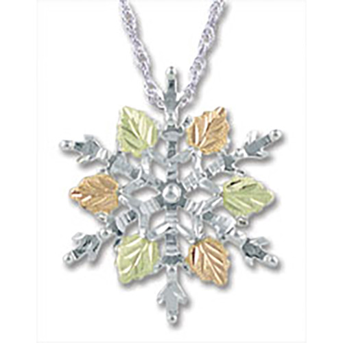 Black Hills Silver Snow Flake Necklace
