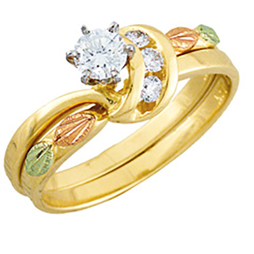 Landstroms 14K Gold Diamond Wedding Set .34 tw